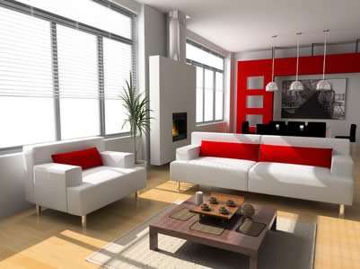 37 decoration salon moderne noir et rouge alltag25 - Salon Moderne But
